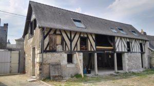 Modification de façade pour l'aménagement d'une grange en habitation à Beaufort 49